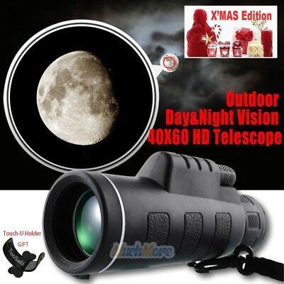 Dual Focus Day&Night Vision 40X60 HD Optical Monocular BAK4 Prism Telescope+Gift