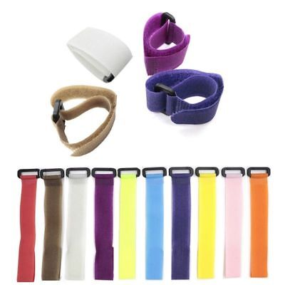 10x Reusable Fishing Rod Tie Holder Fastener Cord Belt Fishing Tackle Accessory