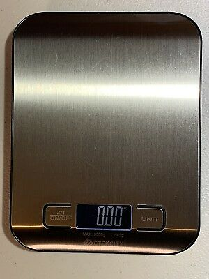 Multifunction Kitchen Food Weighing Scale - 11 lb 5 kg, Silver, Stainless Steel