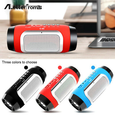 C-65 Portable Wireless Speaker FM Radio With Mic For Mobile Phone High Quality