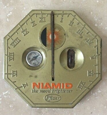 Vintage Collectible Paper Weight SUNDIAL - Niamid, The Mood Brightener by Pfizer