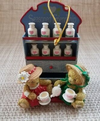 ENSECO 1998 CHERISHED TEDDIES Tea Time Holiday Ornament