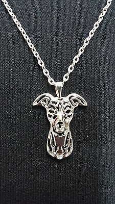 """Whippet or Greyhound Necklace 18"""" Chain"""