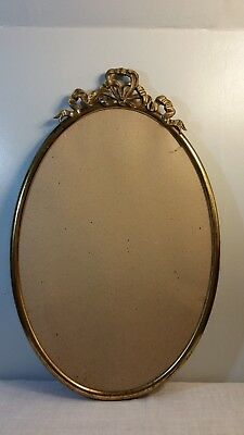 "VINTAGE ORNATE GOLD METAL OVAL WALL PICTURE FRAME 22"" x 14"""