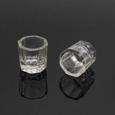 Dental Octagonal Stirring Cups Glass Cups Mixing Bowls Dappen Dishes