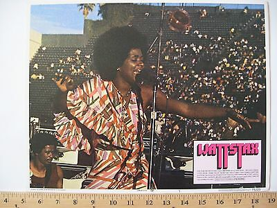 Rare 1973 WATTSTAX Movie Lobby Card Columbia Pictures ISAAC HAYES Staple Singers