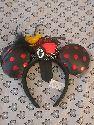 Disney Parks WDW Minnie Mouse Ears Headband - Flower Pot Hat Polka Dot Ears
