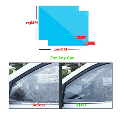 2PCS Car Anti Water Mist Anti Fog Rainproof Window Protective Film 175*200MM