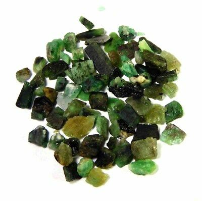 51.300Cts100%Natural Green Emerald Small Rough Specimen Loose Gemstone