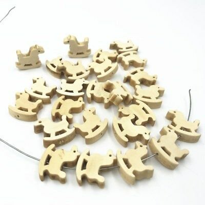 DIY Natural color Wooden Trojans Beads Spacer Beading Pacifier Clip Jewelry 20mm