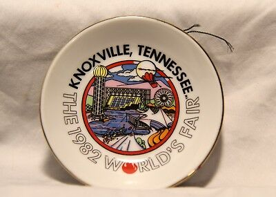 Vintage 1982 Worlds Fair Knoxville Tennessee Souvenir Collectible Mini Plate