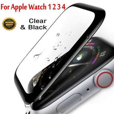3D Apple Watch Series 4 3 2 1 Full Cover Tempered Glass Screen Protector Film