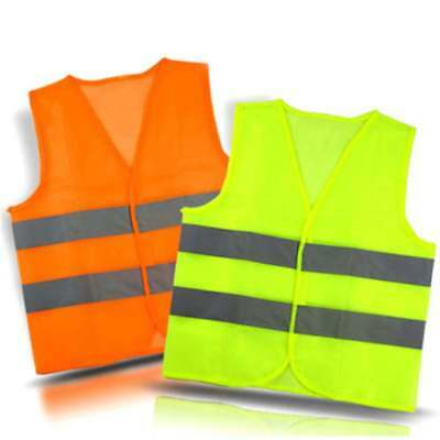 Fluorescent Yellow Safety Reflective Vest Sanitation Traffic Vest Stripe Jacket