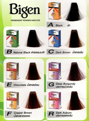 Bigen Permanent Powder Hair Dye Various Colors Oriental Unisex - Punk Style