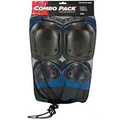 187 Knee and Elbow Pad Combo Pack Blue