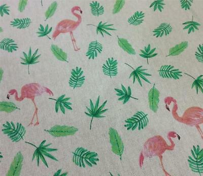 Flamingo Pattern Cloth Cotton Linen Fabric Sewing Pillow/curtain/table cloth