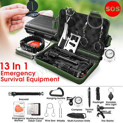 Outdoor SOS Emergency Survival Equipment Kit Gear Tool Tactical Hunting Camping