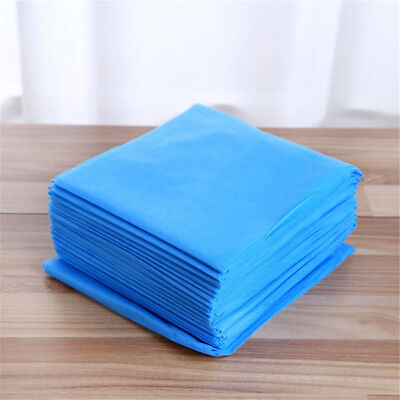 Pack of (x10) Disposable Blue Sheets Beauty Salon Home Spa Massage Table Covers