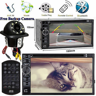 For Audi A1 A3 A4 A5 A6 A7 A8 Q3 Q7 TT 2 Din Car CD DVD Radio Stereo AUX+Camera