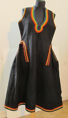 19C. Antique Balkan #folk Costume# Ladies Handwoven Wool Dress Tunic, Bojurluk