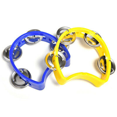 1 Pc Musical Tambourine Kid Metal Bell Jingles Plastic Rattle Ball for KTV Party