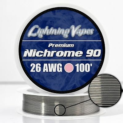 26 AWG Nichrome 90 Competition Wire 100' - N90 wire 26g GA 0.40 mm 100 ft