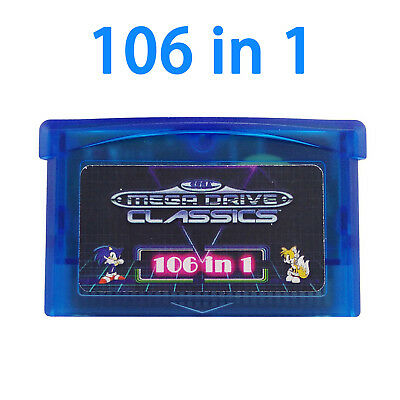 Blue GBA SMS 106 in 1 Games for Game Boy Advance SP NDS Micro Player Multicart