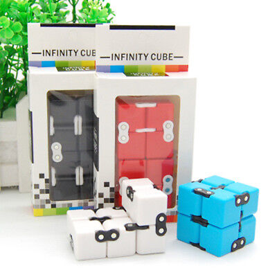 New Metal EDC Infinity Magic Cube Blocks For Stress Relief Fidget Anti Anxiety