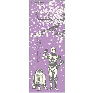 STAR WARS TENUGUI Japanese Cotton Fabric Hand Towel MADE IN JAPAN 90X34cm T18