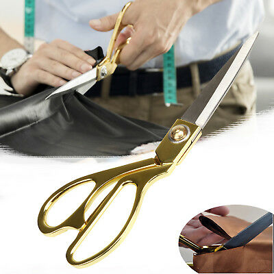 "8"" 9.5"" 10.5"" Scissors Stainless Steel Dressmaking Shears Fabric Craft Cut"