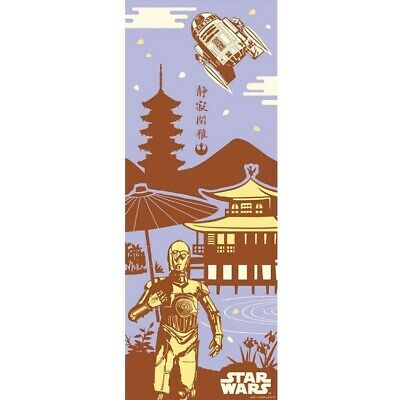STAR WARS TENUGUI Japanese Cotton Fabric Hand Towel MADE IN JAPAN 90X34cm T27