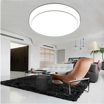 13.8inch 18W Round LED Ceiling Light 7000k Lamp 1600LM Flush Mount Fixture