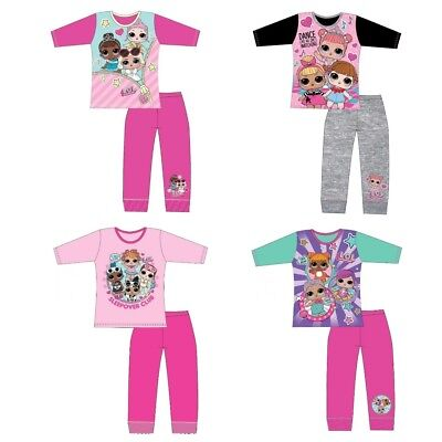 Girls LOL Surprise Dolls Pyjamas Kids Pjs Childrens Sleepwear Size 4-10 Years