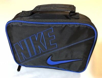 Nike Swoosh Insulated Lunch Box Bag Black & Blue