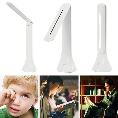 Foldable USB Rechargeable Touch Sensor LED Desk Lamp Dimmable Reading Light Book