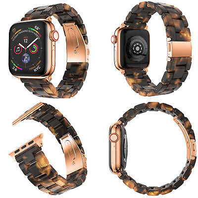 Tortoise shell Lines Belt Replace Strap For Apple Watch Series 4 3 2 1 38/40mm
