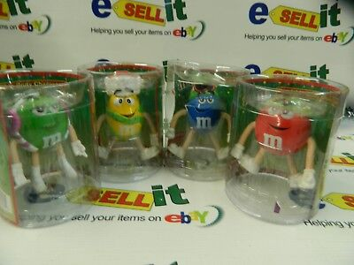 Four M&M Bendable Body Characters