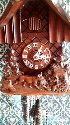 Vintage Black Forest Made In Germany 1973 Cuckoo Clock1 DAY Fully working