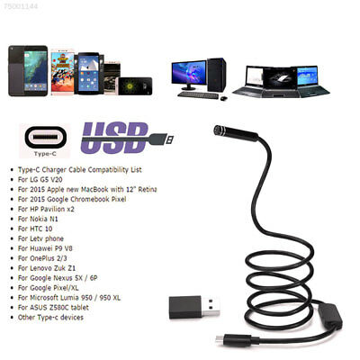 B9A7 5.5mm Endoscope Type-C To USB Adapter Inspection Camera 2MP Waterproof