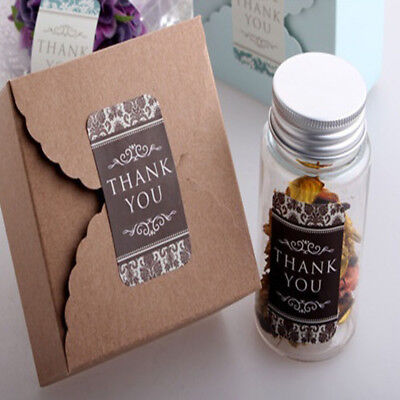 60PCS Thank you Paper Labels Stickers Seals Christmas Gift Box Sealing Sticker