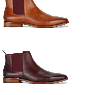 Mens Julius Marlow Phrase Leather Pull On Boots Work Formal Dress Comfort Shoes