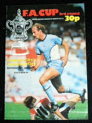Coventry  City v  Worcester City    FA Cup Round 3  3-1-1983