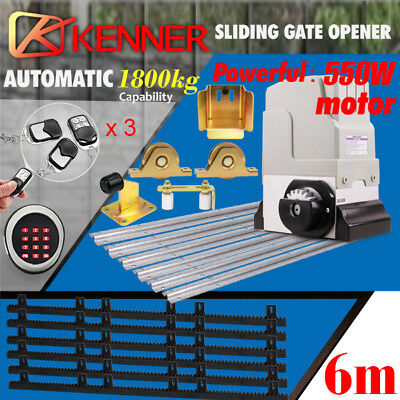 KENNER Electric Sliding Gate Opener 1800KG Automatic Keypad Remote Hardware Kit