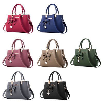 Women Lady Handbag Shoulder Bag Tote Purse PU Leather Messenger Hobo Satchel AU