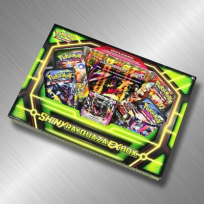 Pokemon Shiny Rayquaza-EX Box Trading Card Game Set TCG Booster Pack Online Code