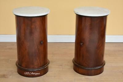 Pair of Victorian Style Flame Mahogany Pot Cupboards