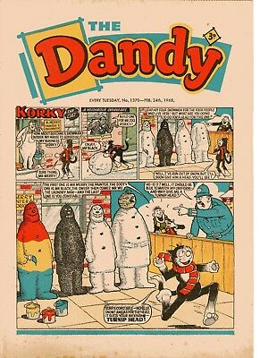 Dandy Comic # 1370 February 24th 1968 Korky The Cat Desperate Dan