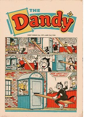 Dandy Comic # 1371 March 2nd 1968 Korky The Cat Desperate Dan