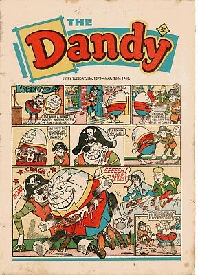 Dandy Comic # 1373 March 16th 1968 Korky The Cat Desperate Dan