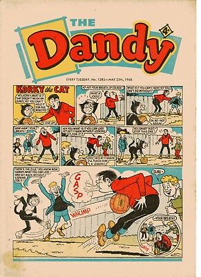 Dandy Comic # 1383 May 25th 1968 Korky The Cat Desperate Dan